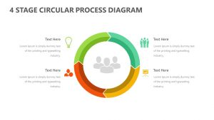 Free 4 Stage Circular Process Arrow Diagram