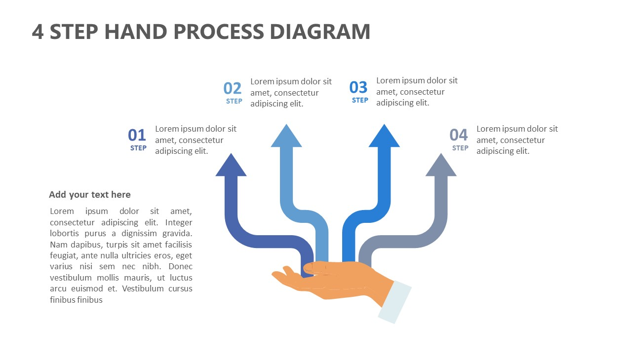 4 Step Hand Process Diagram for PowerPoint (3)