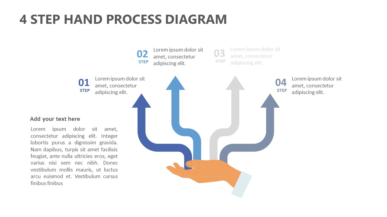 4 Step Hand Process Diagram for PowerPoint (5)