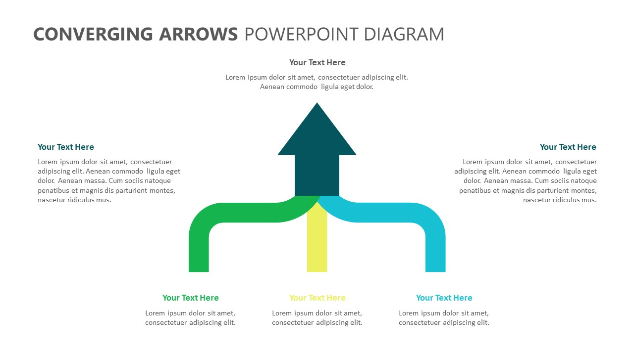 Converging Arrows PowerPoint Diagram (1)