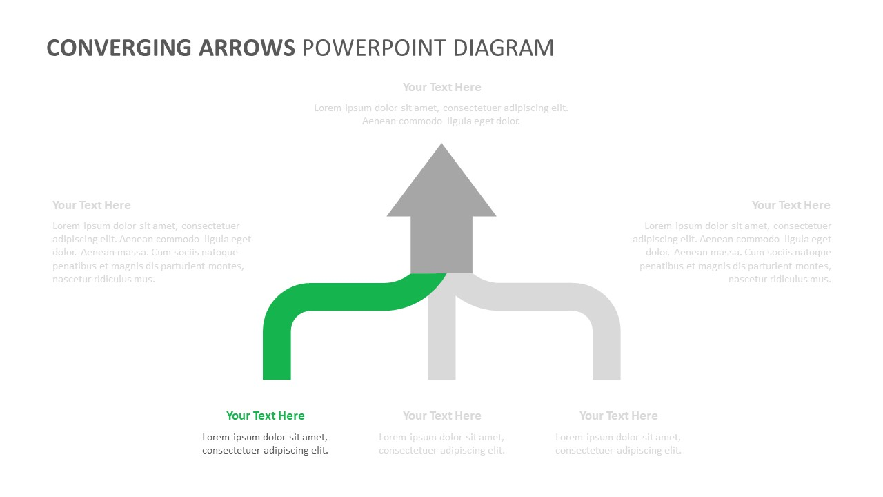Converging Arrows PowerPoint Diagram (2)