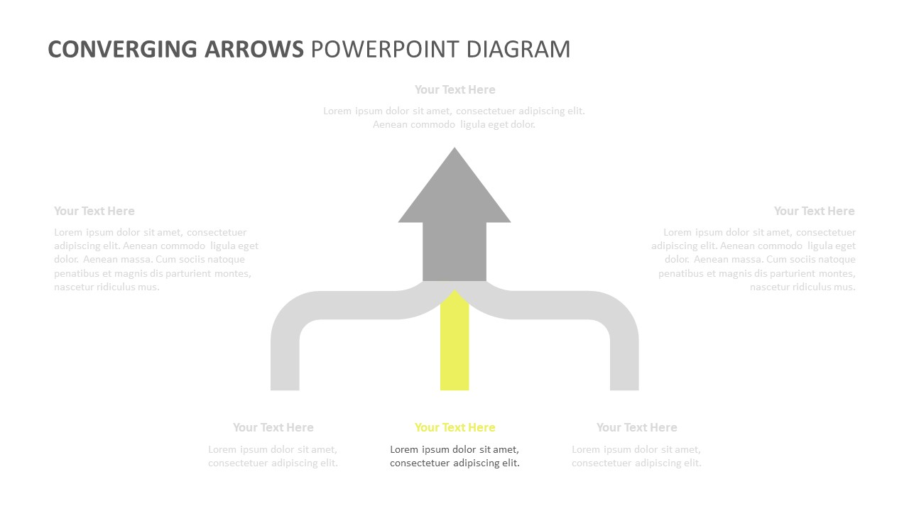 Converging Arrows PowerPoint Diagram (3)
