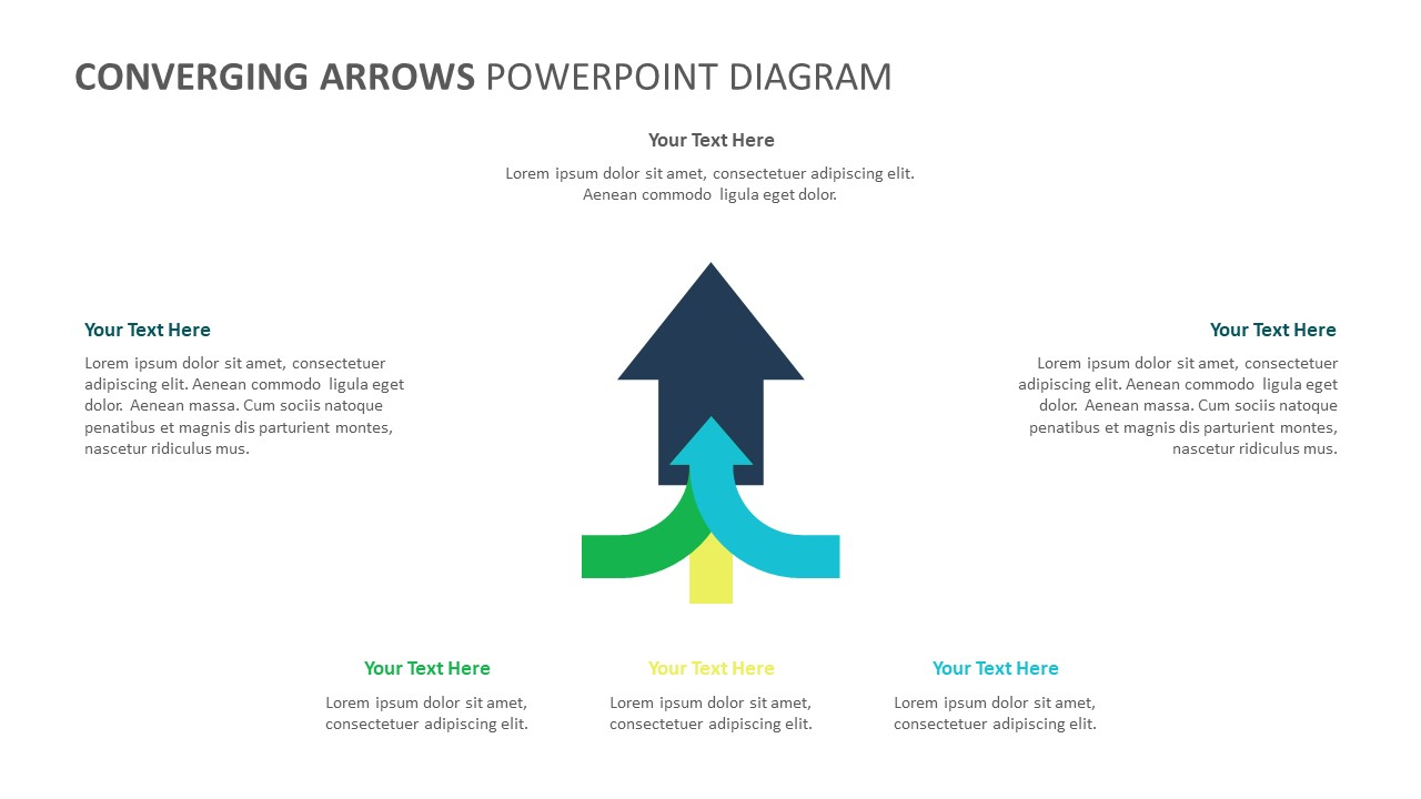 Converging Arrows PowerPoint Diagram (4)