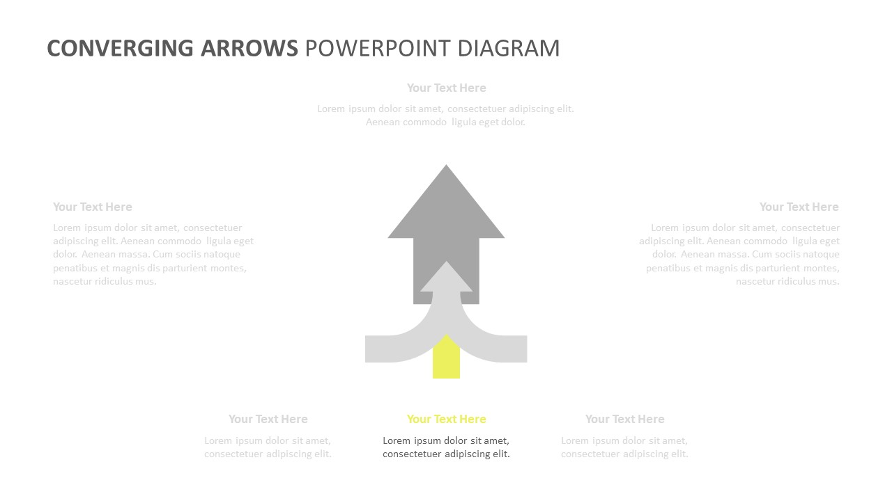 Converging Arrows PowerPoint Diagram (5)