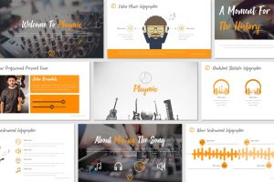 Playmix – Music Themed PowerPoint Template
