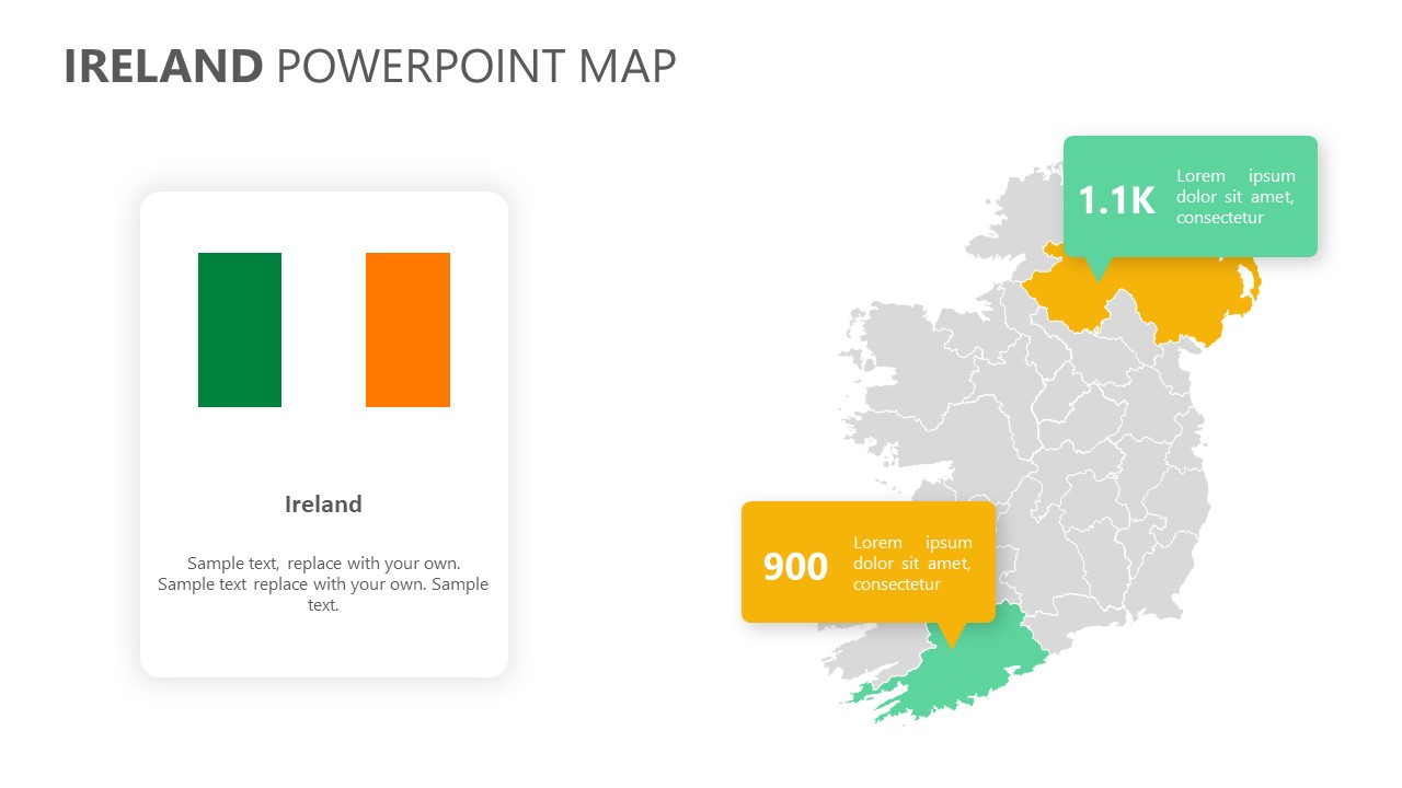 Ireland PowerPoint Map (2)