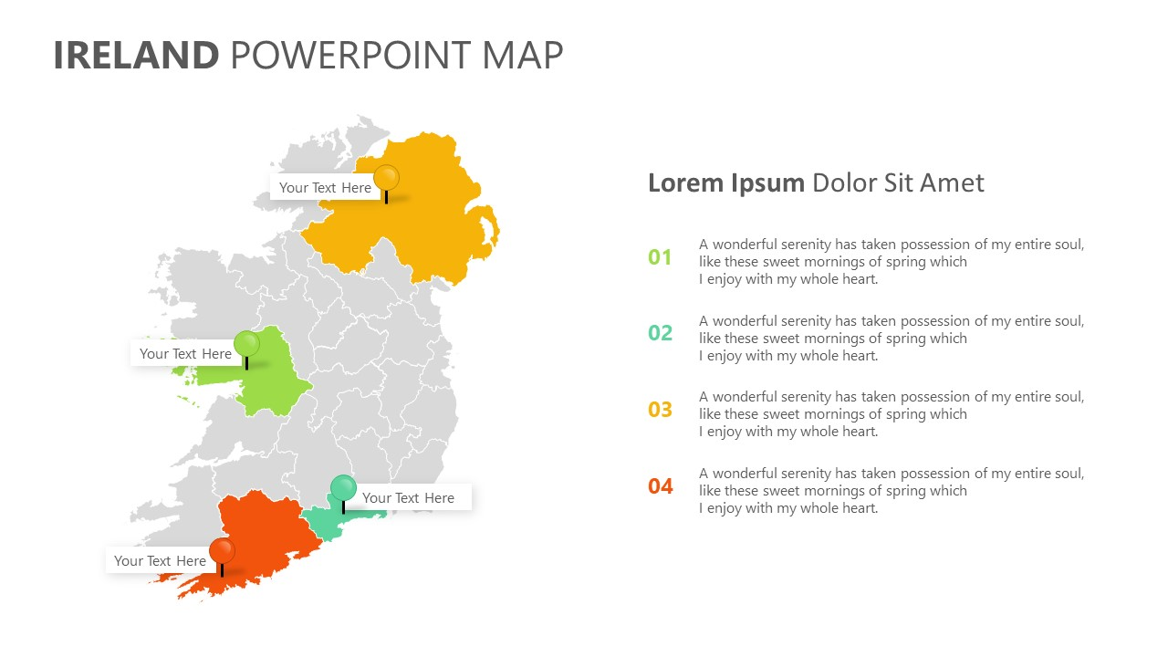 Ireland PowerPoint Map (4)