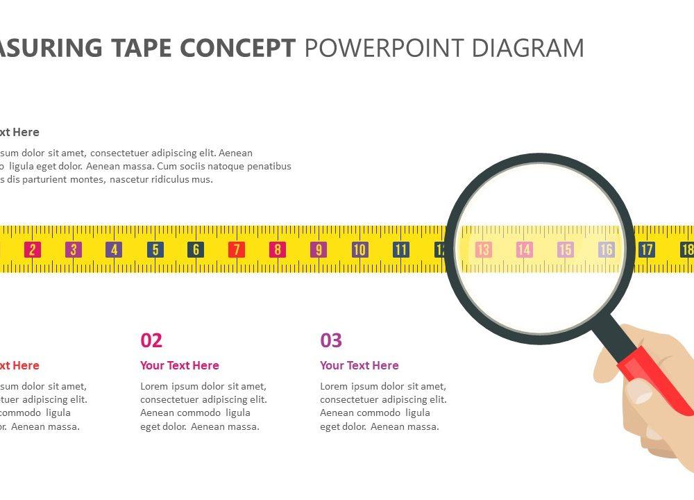 measuring tape concept powerpoint diagram 1 pslides. Black Bedroom Furniture Sets. Home Design Ideas