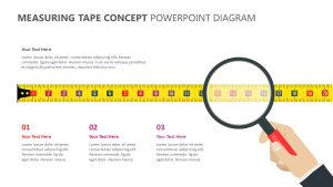Measuring Tape Concept PowerPoint Diagram