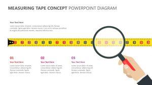 Measuring Tape Concept PowerPoint Diagram