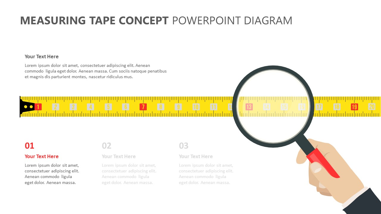 Measuring Tape Concept PowerPoint Diagram (2)