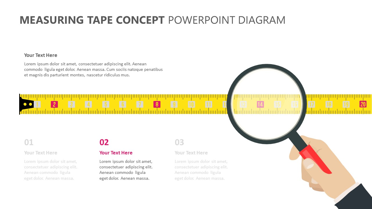 Measuring Tape Concept PowerPoint Diagram (3)