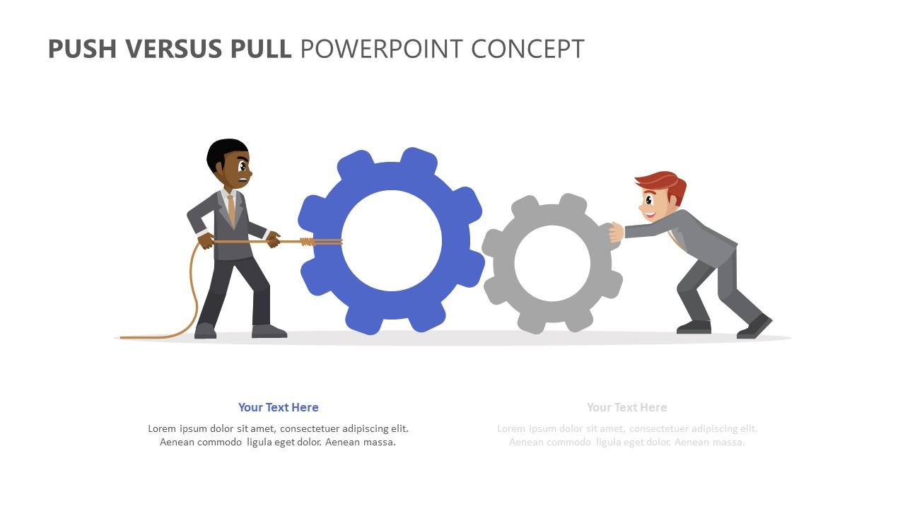 Push Versus Pull PowerPoint Concept (2)