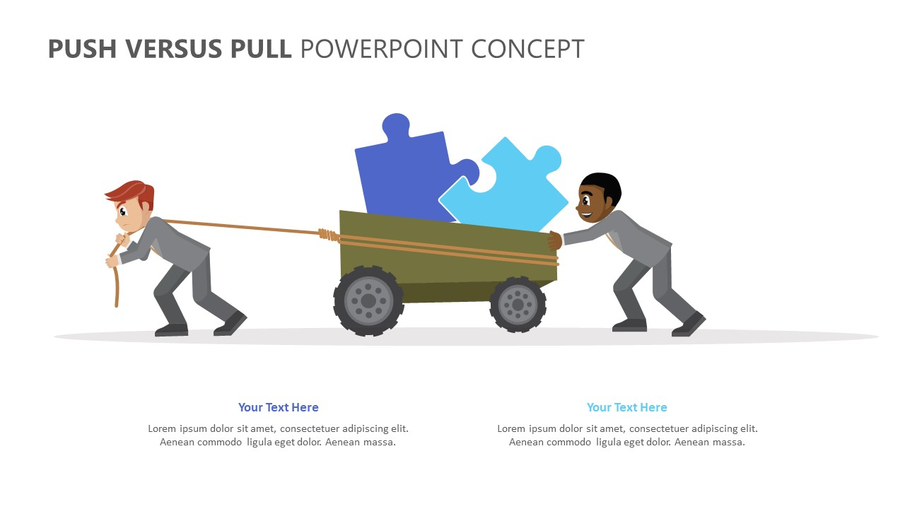 Push Versus Pull PowerPoint Concept (4)
