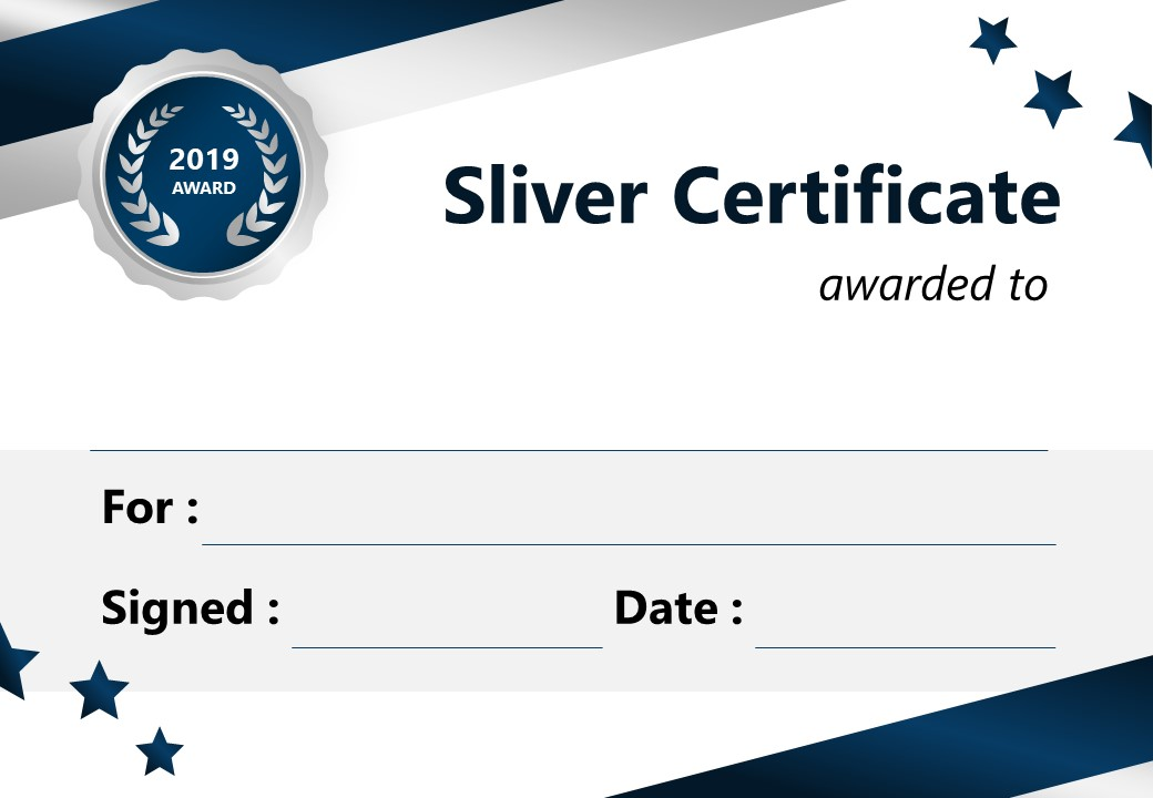 Silver Certificate for PowerPoint