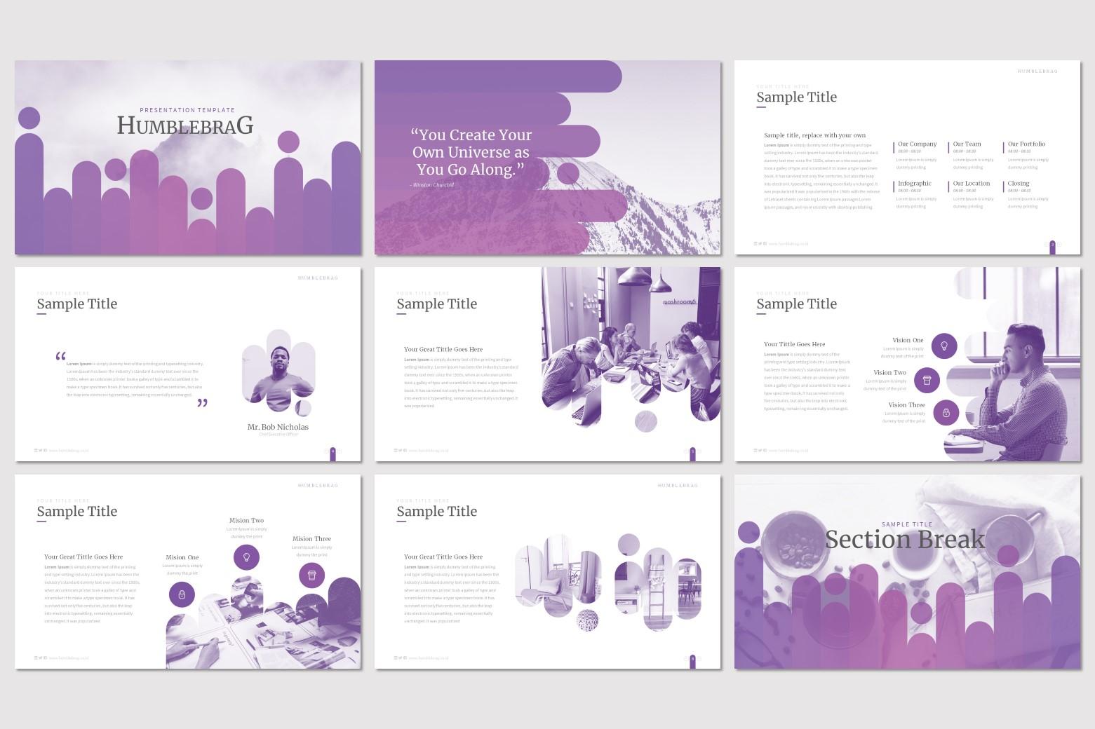 Humblebrag – Multi-purpose PowerPoint Template