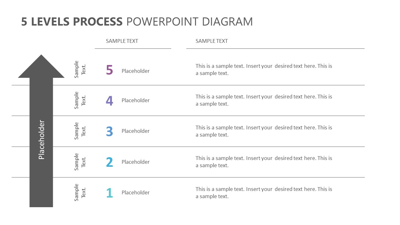 5 Levels Process PowerPoint Diagram (1)