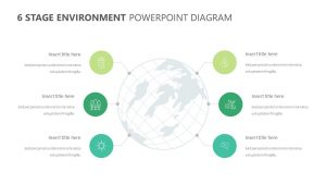 6 Stage Environment PowerPoint Diagram