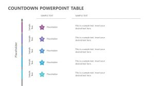 Countdown PowerPoint Table