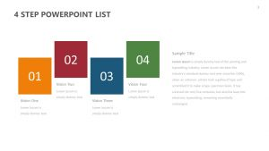 Free 4 Step PowerPoint List