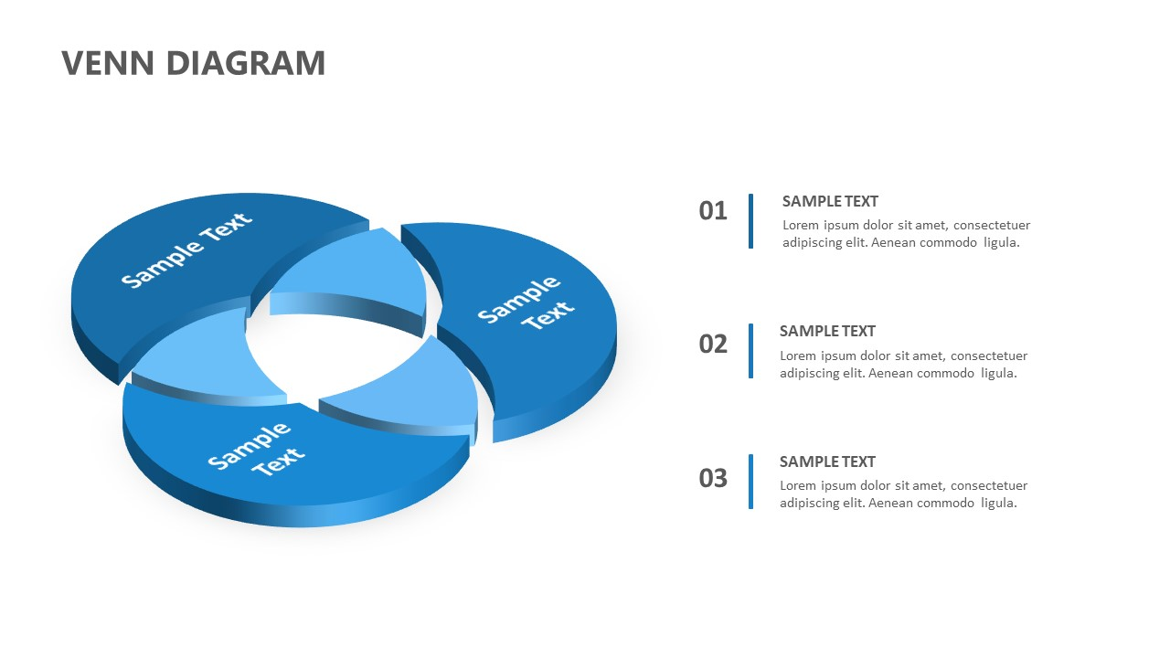 3D Venn Diagram for PowerPoint