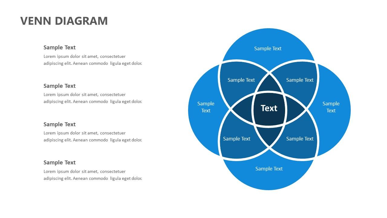 4 Circle Venn Diagram for PowerPoint