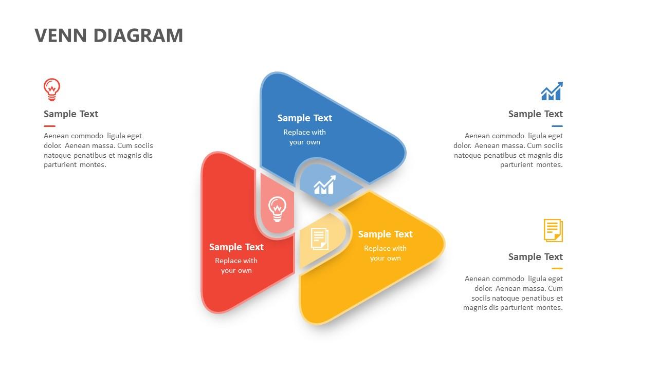 Triangle Venn Diagram for PowerPoint
