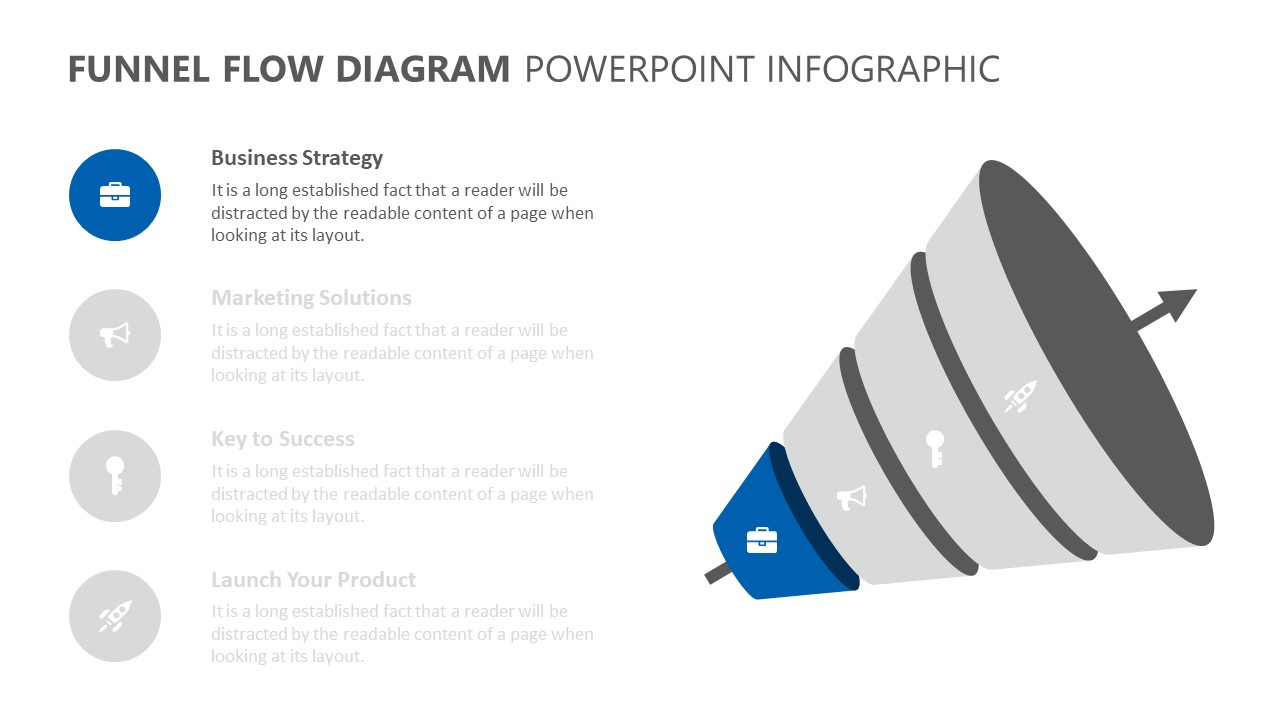 Funnel Flow Diagram PowerPoint Infographic (2)