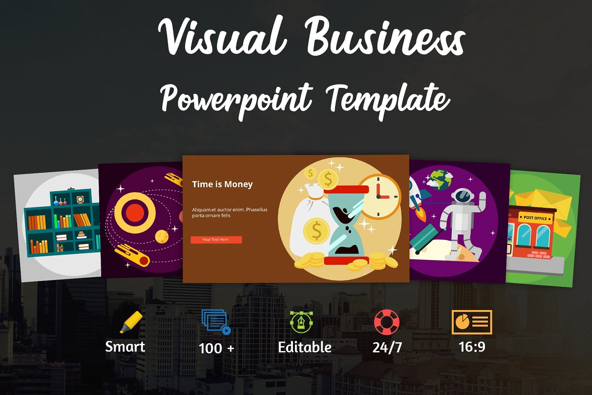 Visual Business PowerPoint Template (Set 1)