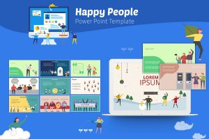 Happy People PowerPoint Template