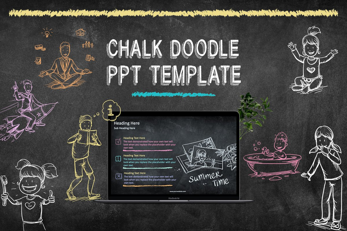 Chalk Doodle PowerPoint Template