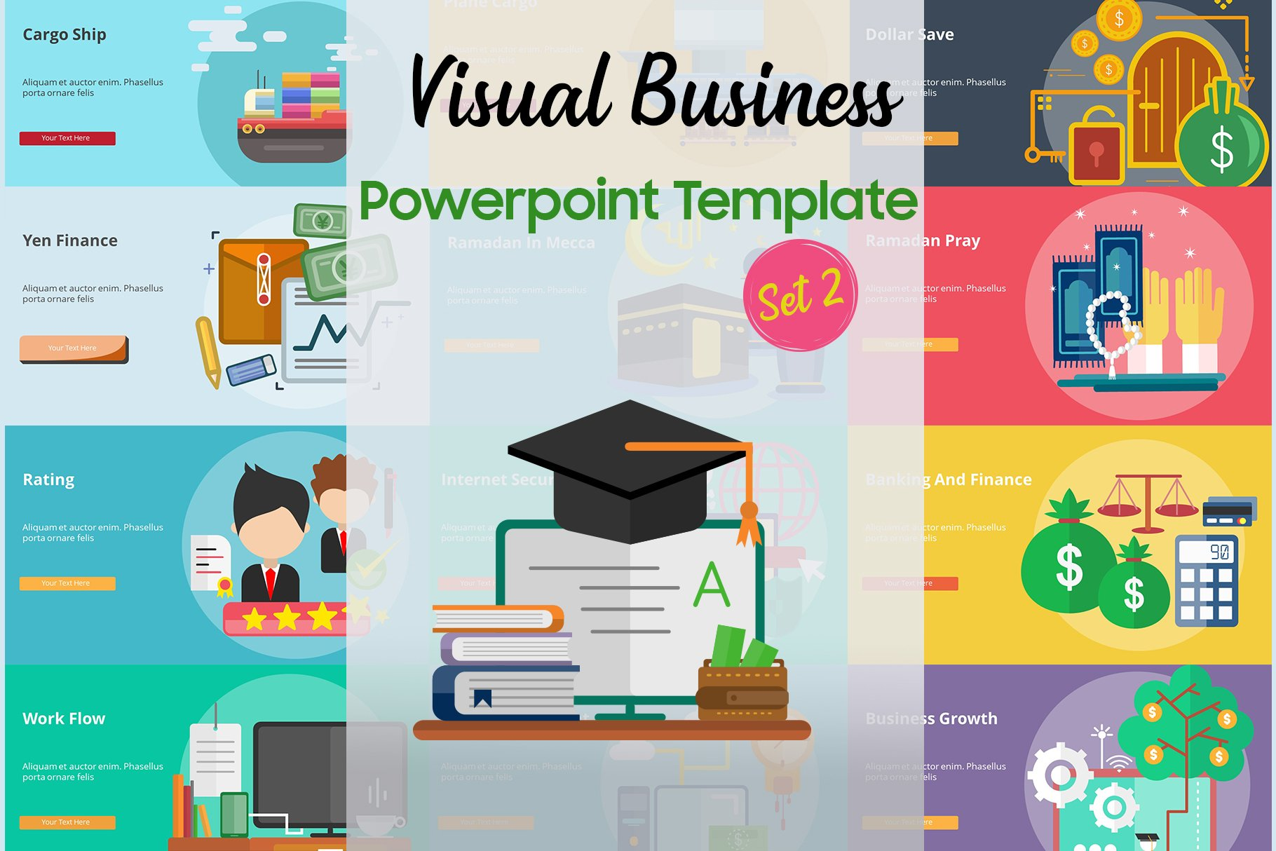 Visual Business PowerPoint Template (Set 2)